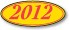 Windshield Stickers - Oval Year - Red on Yellow