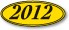 Windshield Stickers - Oval Year - Black on Yellow