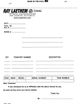 Parts Special Order Form - 4 Part - Imprinted | DSA-115-4 | 610-IMP