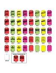 Mirror Hang Tags - Fluorescent Color