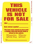 Vehicle Not For Sale Sticker (Face Stick) | 8245-02