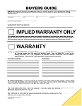Buyer's Guide - Implied Warranty - 2 Part - File/Holder Copy | 8253-FC