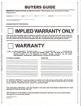 Buyer's Guide - Implied Warranty - 1 Part - Pressure Sensitive | 8254