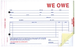 We Owe Form - 3 part - Imprinted | SA-1506