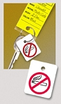 No Smoking Reminder - Plastic Key Fob