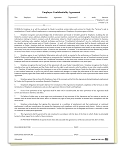 Employee Confidentiality Agreement | 6125