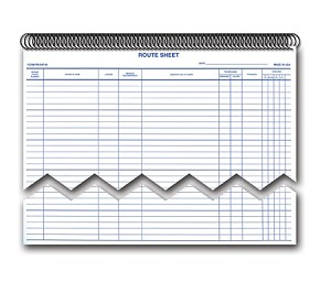 Service Route Sheets/Appointments - Spiral Bound