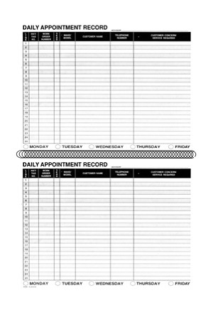 Service Daily Appointment Record Book | RL-98183-B