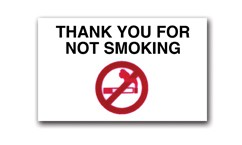 No Smoking Reminder - Static Cling