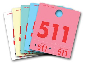 Service Tag Numbers 3-digit - Colored | 3D-NR