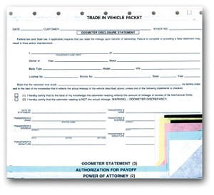 "Odometer ""Trade-In Vehicle"" Combination Form 
