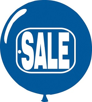Blue Sale Balloon 58691
