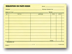 Parts Requisition Form | 27