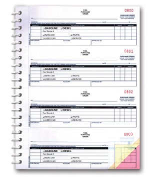 Purchase Order Book - 3 Part - Fuel - Imprinted | NC-124-3-Fuel