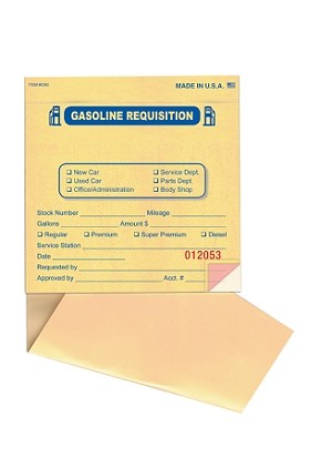 Fuel Requisition Books | Imprinted