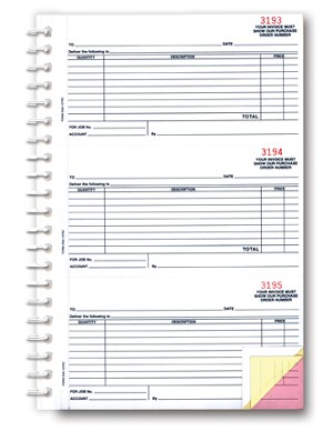 Purchase Order Book - 3 part - Imprinted | DSA-127-NC