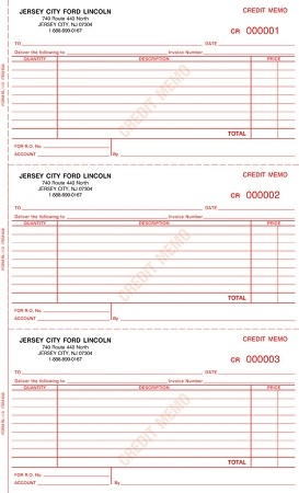 Credit Memo Books - Imprinted | RL-113