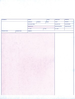 "Service Invoice - Laser - 11"" - 20# - Imprinted"
