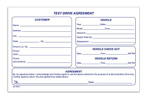 Test Drive Agreement