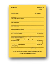 Vehicle Deal Label - 1 Part  - Adhesive | AA-168