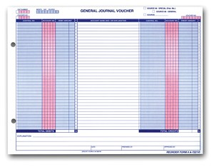 General Journal Voucher - Horizontal - A-7221VI