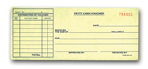 Petty Cash Vouchers | DSA-130